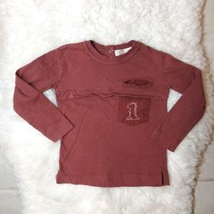 ⚡ ZARA Long Sleeves tee Sz 3/4 Years